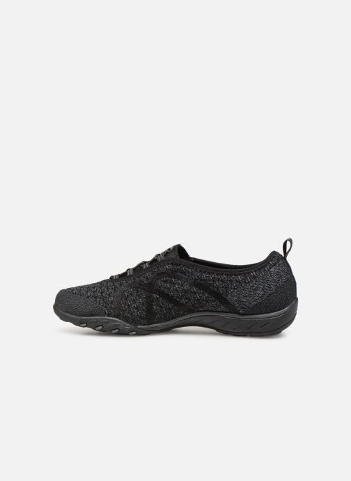 Trainers Skechers Breath-Easy Fortunekni Black front view