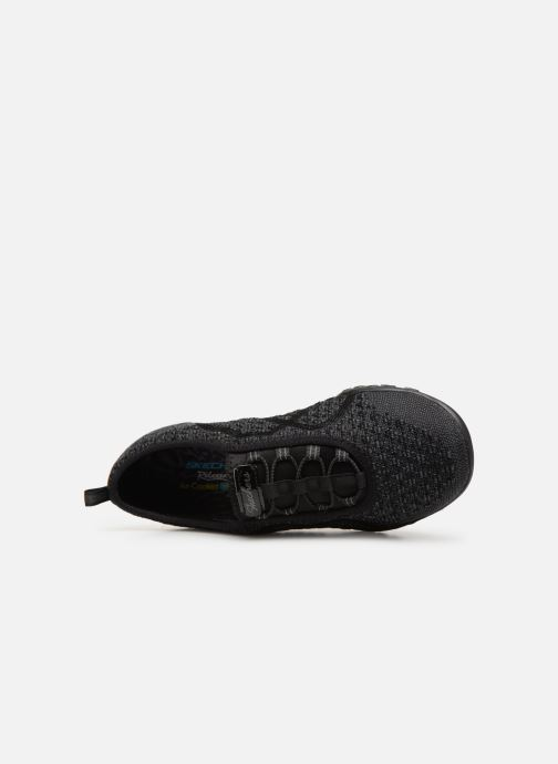 Trainers Skechers Breath-Easy Fortunekni Black view from the left