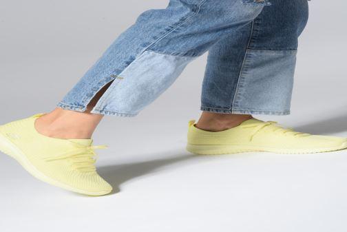 Sneaker Skechers Ultra Flex Fresh Pick blau ansicht von unten / tasche getragen