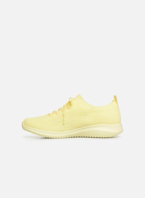 Sneaker Skechers Ultra Flex Fresh Pick gelb ansicht von vorne