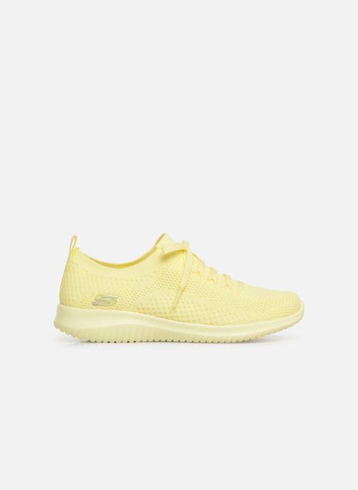 Sneaker Skechers Ultra Flex Fresh Pick gelb ansicht von hinten