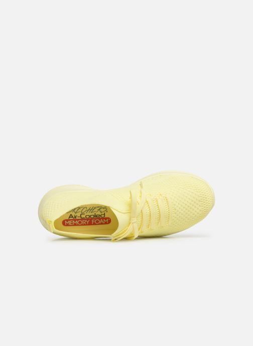 Sneaker Skechers Ultra Flex Fresh Pick gelb ansicht von links
