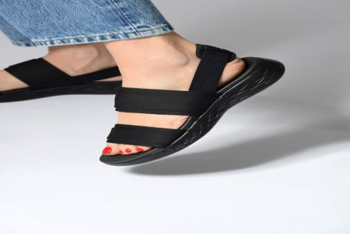 88f3cce95c6d Sandals Skechers On The Go 600 Foxy Black view from underneath   model view