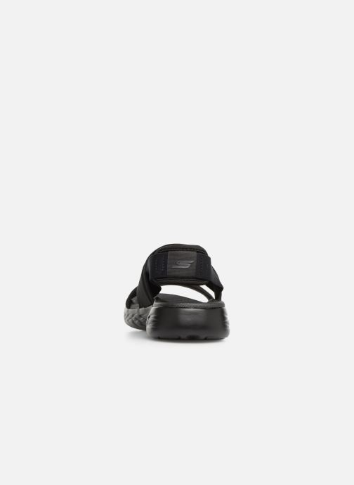 Sandalias Skechers On The Go 600 Foxy Negro vista lateral derecha