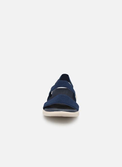 Sandales et nu-pieds Skechers On The Go 600 Flawless Bleu vue portées chaussures