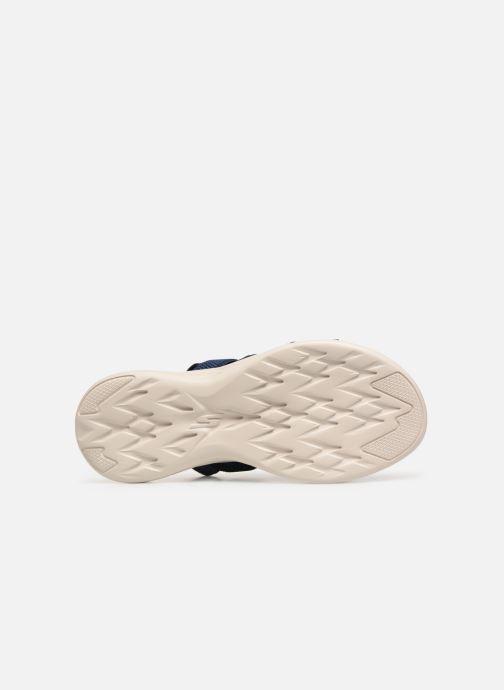 Sandales et nu-pieds Skechers On The Go 600 Flawless Bleu vue haut