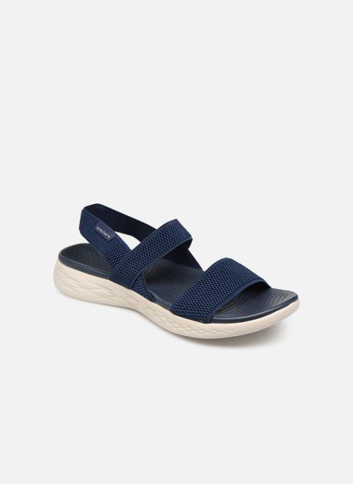 Sandales et nu-pieds Skechers On The Go 600 Flawless Bleu vue détail/paire