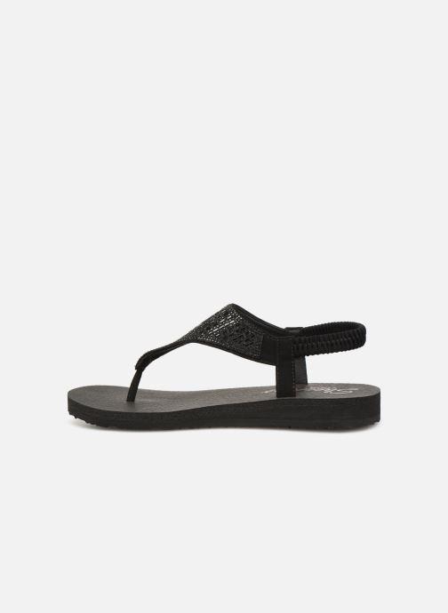 Sandalen Skechers Meditation Rock Crown schwarz ansicht von vorne