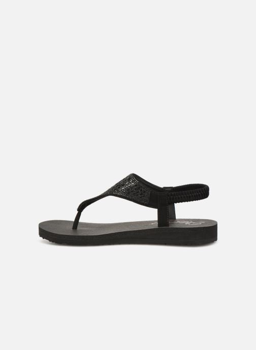 Sandals Skechers Meditation Rock Crown Black front view