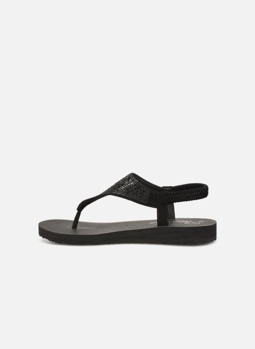 Sandales et nu-pieds Skechers Meditation Rock Crown Noir vue face