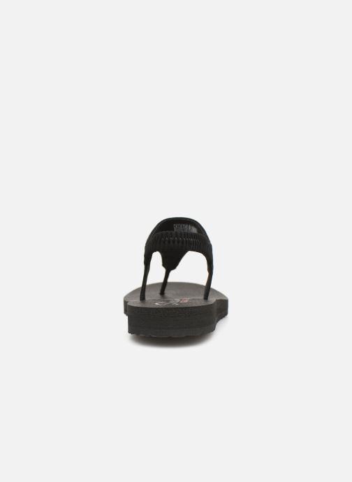 Sandalias Skechers Meditation Rock Crown Negro vista lateral derecha