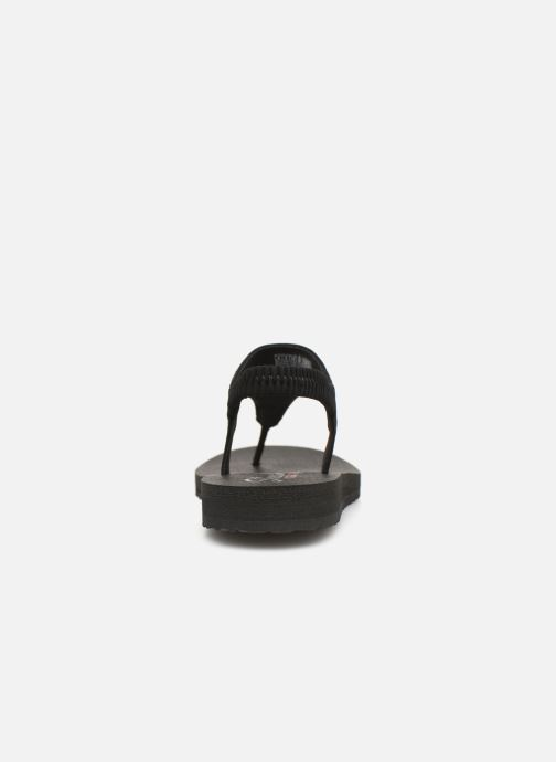 Sandalias Skechers Meditation Rock Crown Negro vista lateral derecha