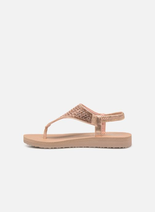 Sandalias Skechers Meditation Rock Crown Rosa vista de frente