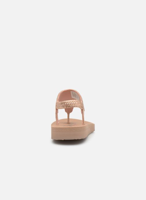 Sandalias Skechers Meditation Rock Crown Rosa vista lateral derecha