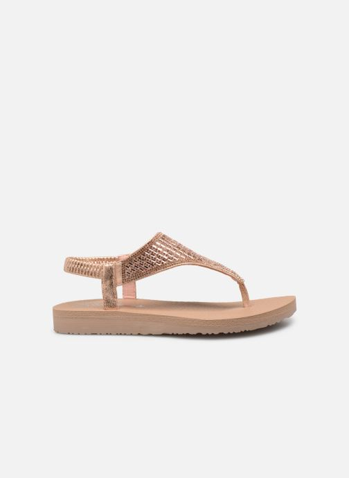 Sandalias Skechers Meditation Rock Crown Rosa vistra trasera