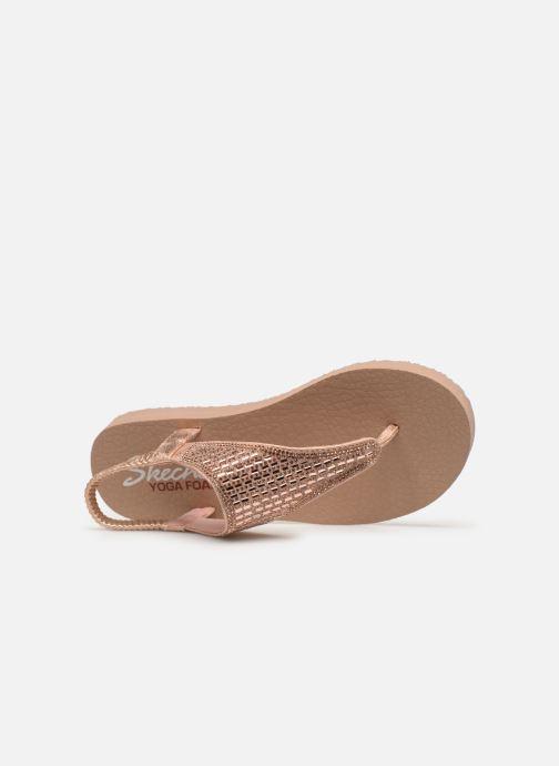 Sandalen Skechers Meditation Rock Crown rosa ansicht von links