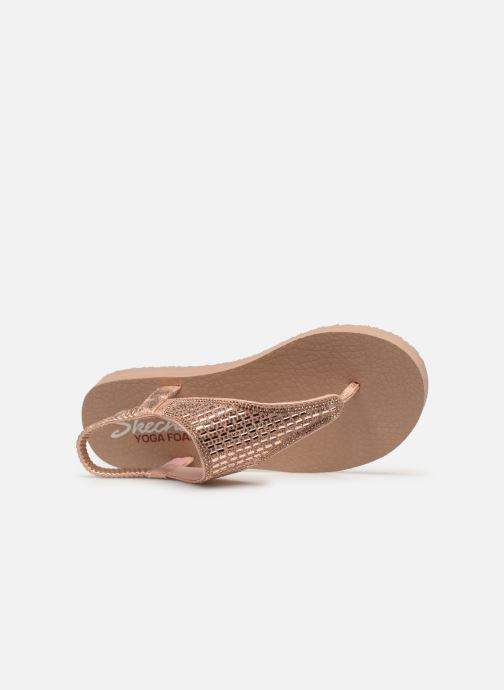 Sandalias Skechers Meditation Rock Crown Rosa vista lateral izquierda