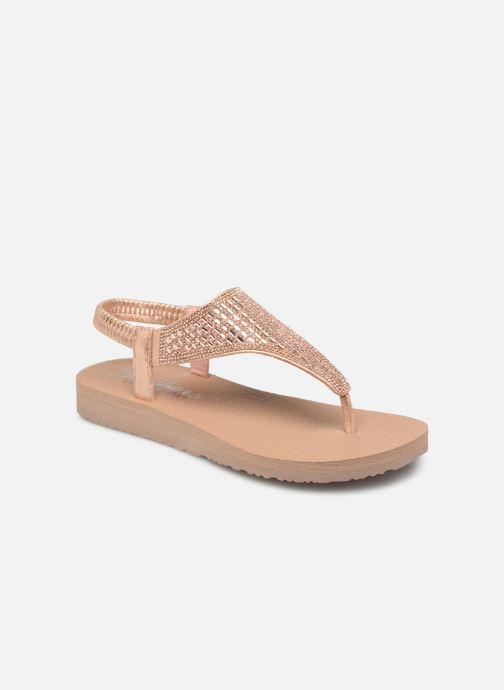 Sandals Skechers Meditation Rock Crown Pink detailed view/ Pair view