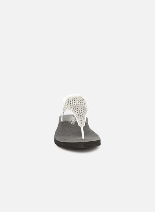 Sandalen Skechers Meditation Rock Crown weiß schuhe getragen