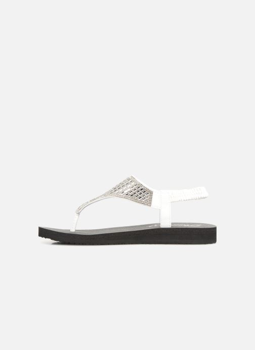 Sandalias Skechers Meditation Rock Crown Blanco vista de frente