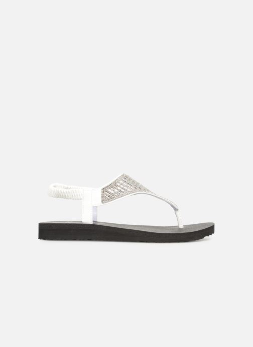 Sandalias Skechers Meditation Rock Crown Blanco vistra trasera