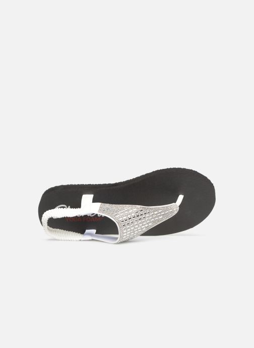 Sandalias Skechers Meditation Rock Crown Blanco vista lateral izquierda