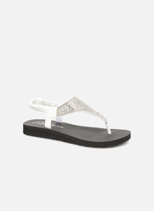 Sandalias Skechers Meditation Rock Crown Blanco vista de detalle / par