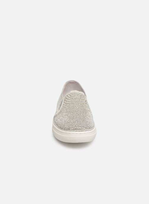 Sneaker Skechers Goldie silber schuhe getragen