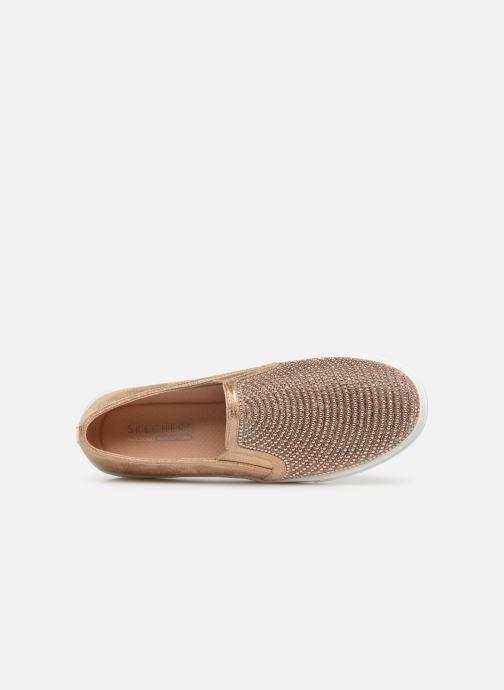 Sneaker Skechers Goldie gold/bronze ansicht von links