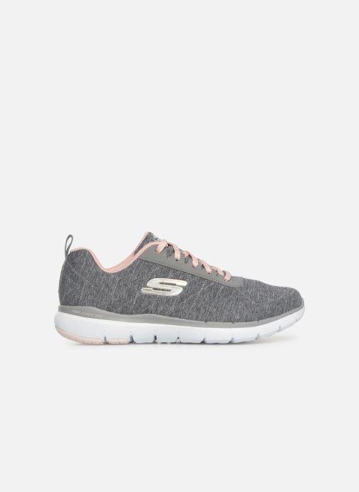 Sportschuhe Skechers Flex Appeal 3.0 Insiders grau ansicht von hinten