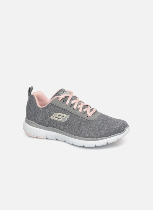 Sportssko Skechers Flex Appeal 3.0 Insiders Grå detaljeret billede af skoene