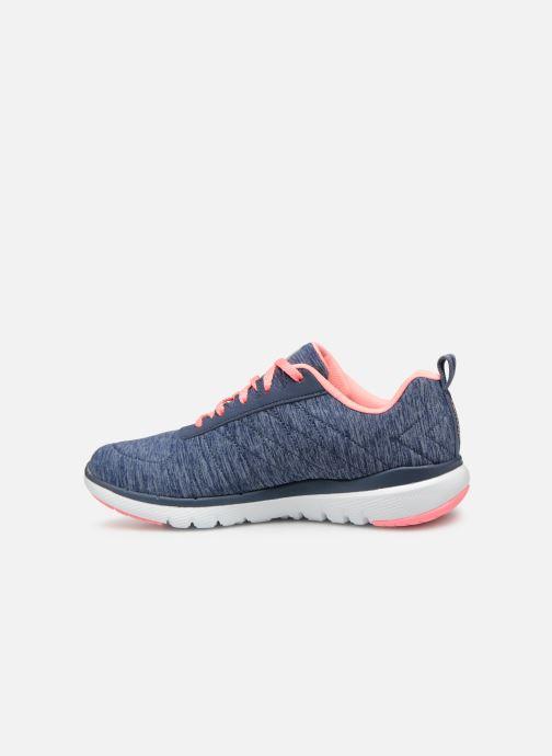 Zapatillas de deporte Skechers Flex Appeal 3.0 Insiders Azul vista de frente
