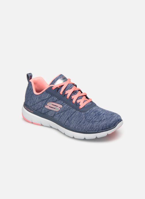 Sportssko Skechers Flex Appeal 3.0 Insiders Blå detaljeret billede af skoene