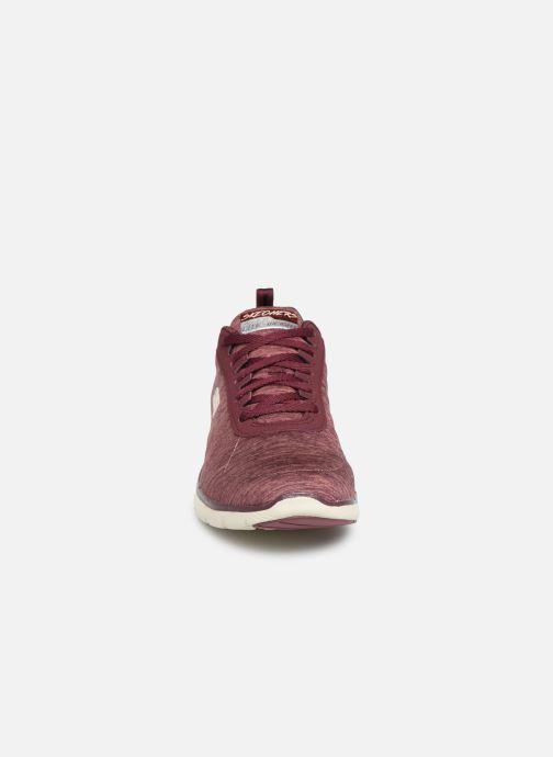 Chaussures de sport Skechers Flex Appeal 3.0 Insiders Bordeaux vue portées chaussures