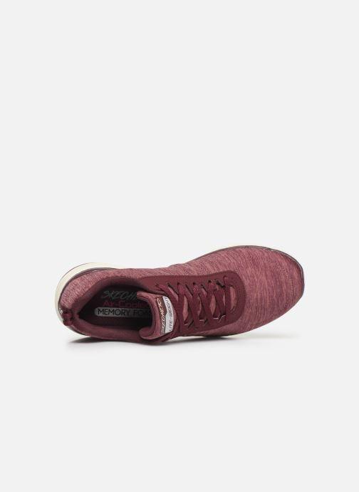 Chaussures de sport Skechers Flex Appeal 3.0 Insiders Bordeaux vue gauche