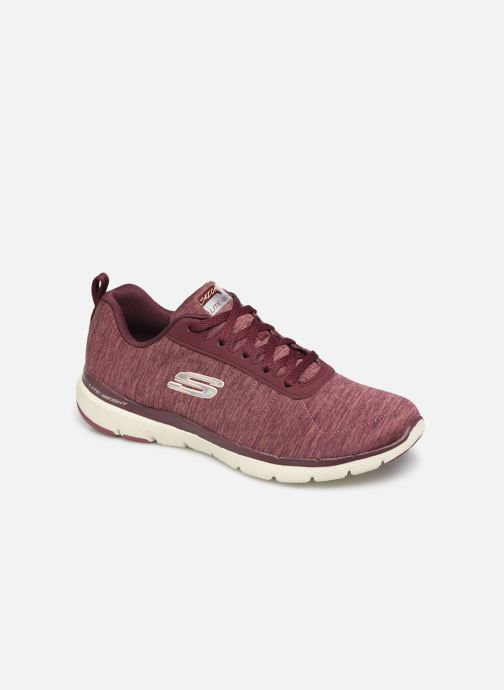 Chaussures de sport Skechers Flex Appeal 3.0 Insiders Bordeaux vue détail/paire