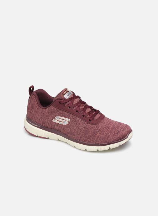 Sportssko Skechers Flex Appeal 3.0 Insiders Bordeaux detaljeret billede af skoene