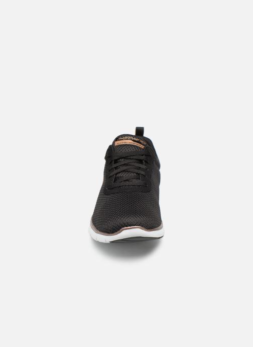 Zapatillas de deporte Skechers Flex Appeal 3.0 Flashy Nite Negro vista del modelo