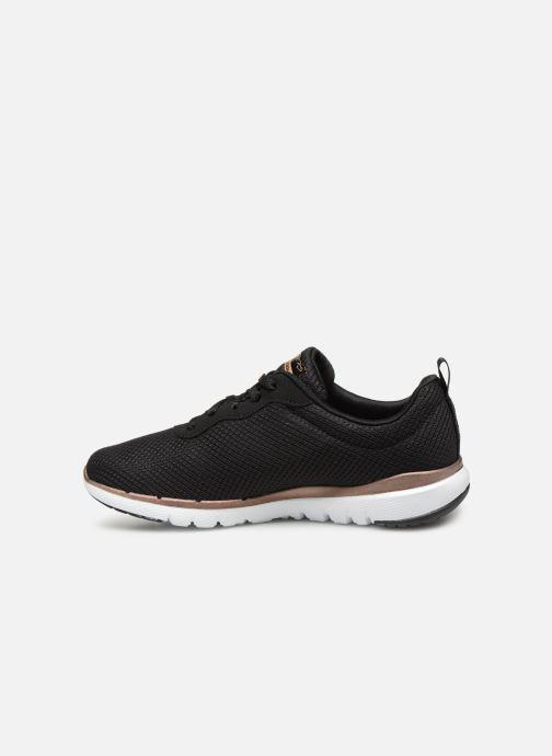 Zapatillas de deporte Skechers Flex Appeal 3.0 Flashy Nite Negro vista de frente