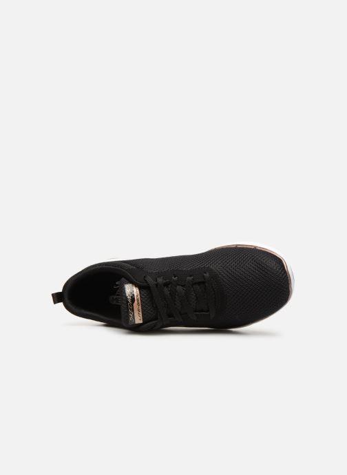 Zapatillas de deporte Skechers Flex Appeal 3.0 Flashy Nite Negro vista lateral izquierda