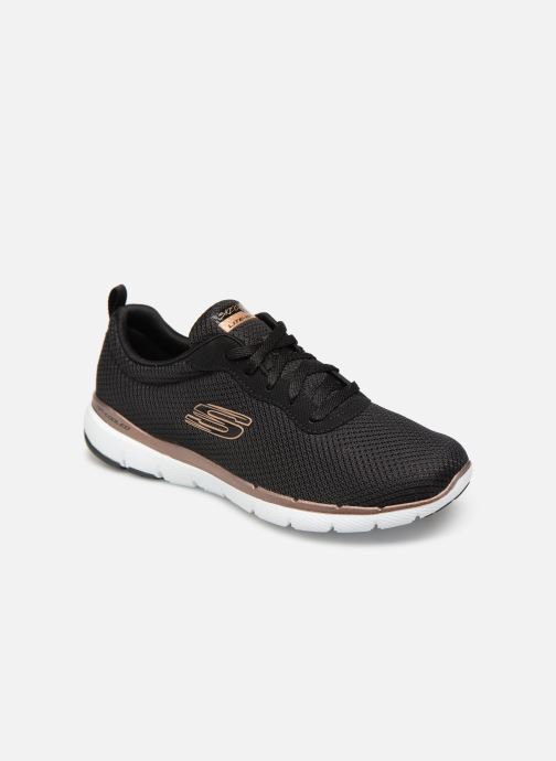 online retailer 9aeb5 b780f Chaussures de sport Skechers Flex Appeal 3.0 Flashy Nite Noir vue  détail paire