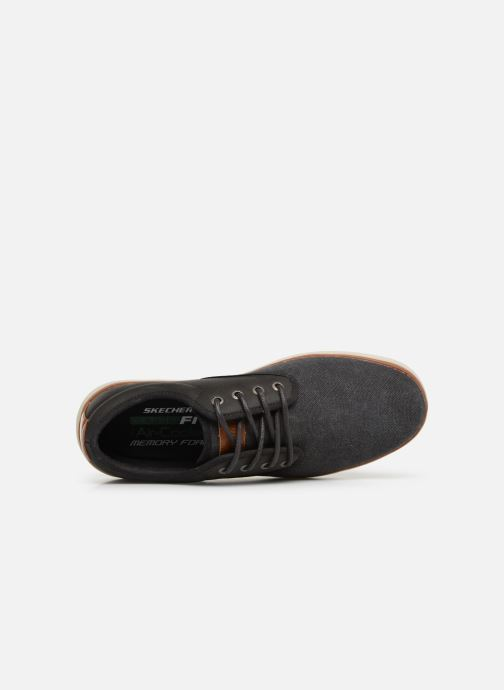 Trainers Skechers Heston Santano Black view from the left