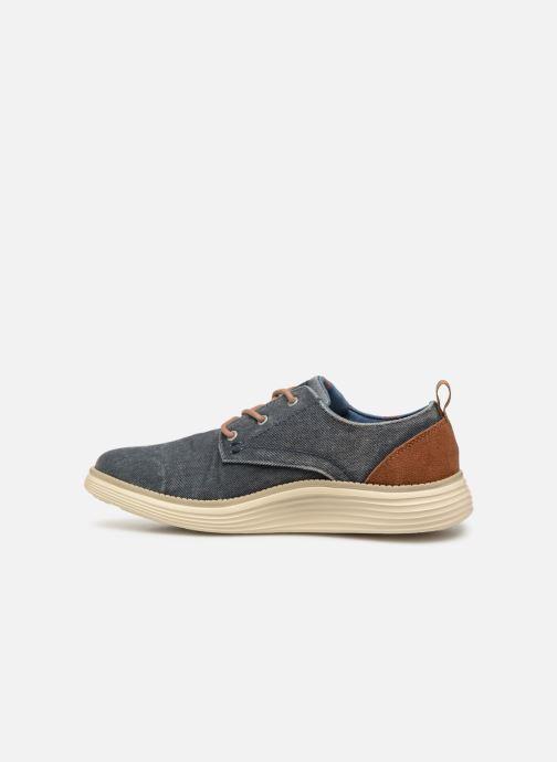 Zapatos con cordones Skechers Status 2.0 Pexton Azul vista de frente