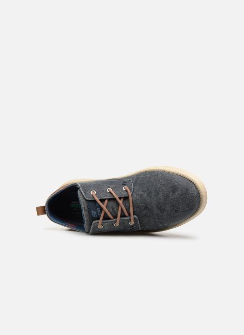 Zapatos con cordones Skechers Status 2.0 Pexton Azul vista lateral izquierda