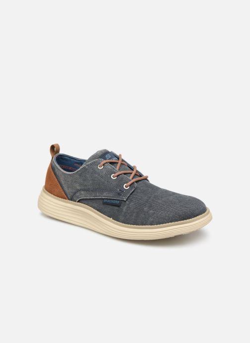 Chaussures à lacets Skechers Status 2.0 Pexton Bleu vue détail/paire
