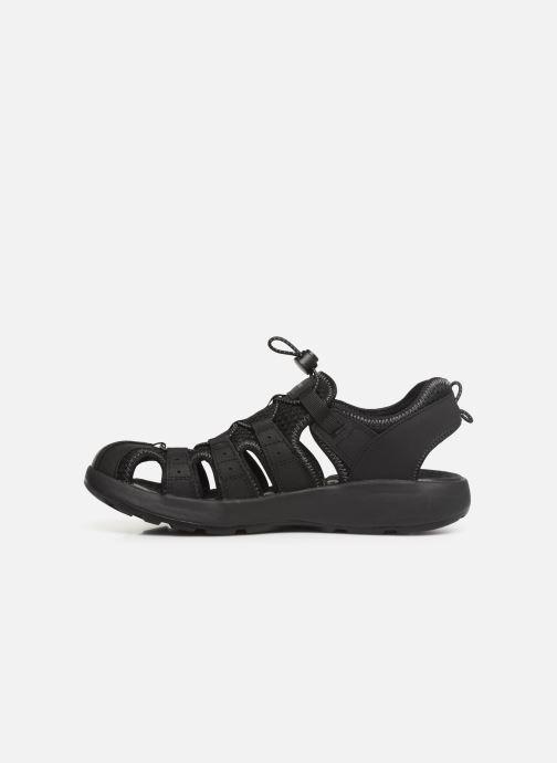 Sandales et nu-pieds Skechers Melbo Journeyman 2 Noir vue face
