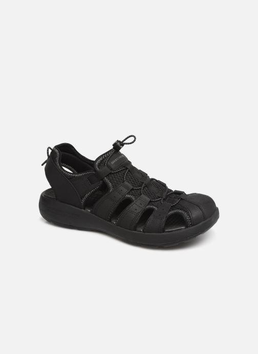 Sandals Skechers Melbo Journeyman 2 Black detailed view/ Pair view