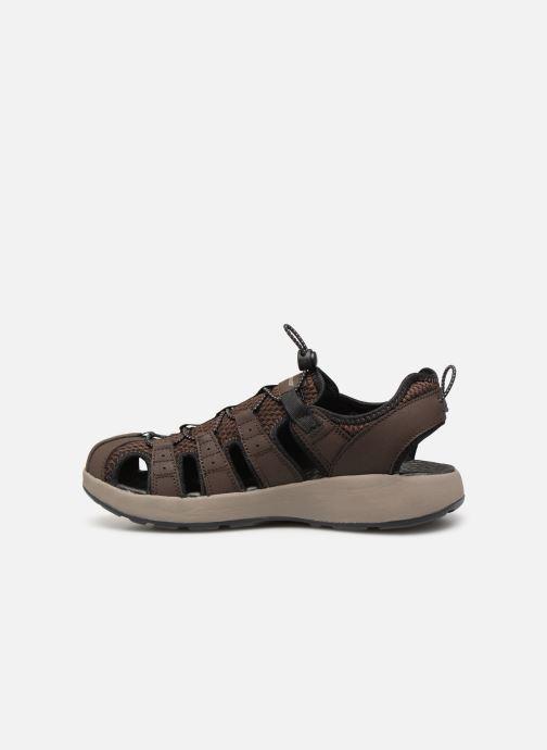 Sandales et nu-pieds Skechers Melbo Journeyman 2 Marron vue face