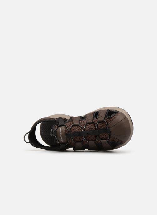 Sandales et nu-pieds Skechers Melbo Journeyman 2 Marron vue gauche