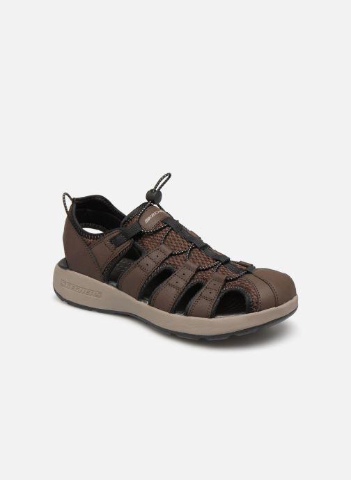 Sandales et nu-pieds Skechers Melbo Journeyman 2 Marron vue détail/paire